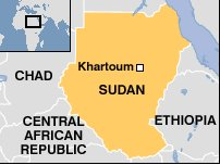 Sudan map, courtesy of BBC News